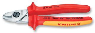 KNIPEX - 95 16 165 - 电缆剪钳 VDE 1000V 165MM