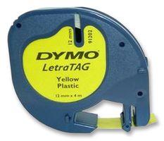 DYMO - S0721620 - 标签打印带 塑料 黄色 12mmX4m