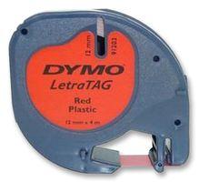 DYMO - S0721630 - 标签打印带 塑料 红色 12mmX4m