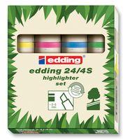 EDDING - 24/4S - 荧光笔套件 4色