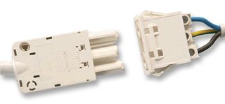 TYCO ELECTRONICS - 293192-2 - 插座 面板安装 3路 白色