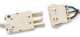 TYCO ELECTRONICS - 293193-2 - 插头 面板安装 3路 白色