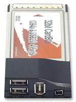 PRO SIGNAL - 307790 - 接口卡 PCMCIA 2USB+DV+FW端口